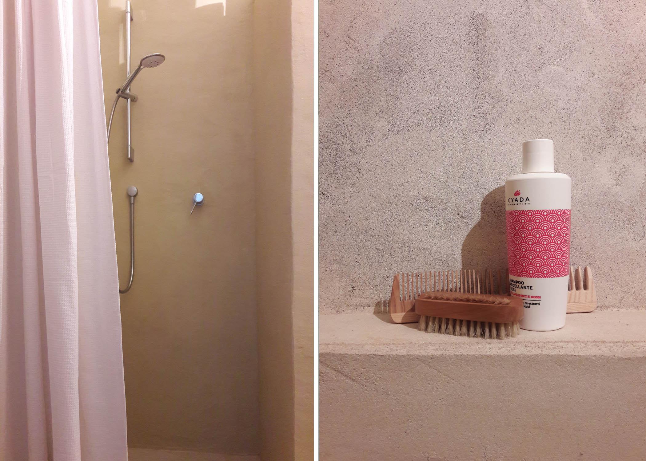 natural plaster bathroom