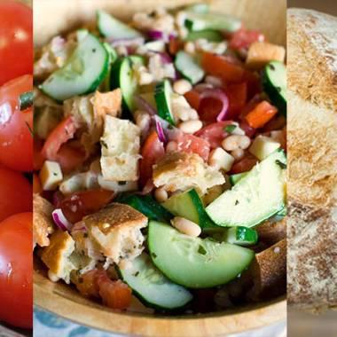 Panzanella, tuscan salad recipe