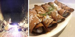 Necci with ricotta cheese: chestnut tuscan pancakes