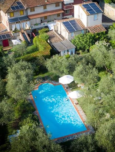 borgo4case - piscina dall'alto