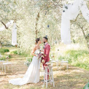 Un intimo matrimonio ecosostenibile in Toscana